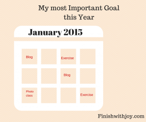 My Most Important Goal for this Year