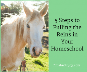 5 Tips for Pulling Back the Reins in Your Homeschool