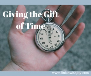 Motivation Monday: Giving the Gift of Time