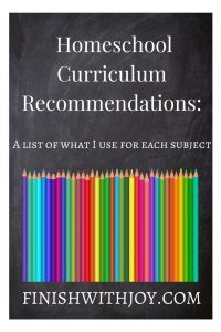 Homeschool Curriculum: What We Use